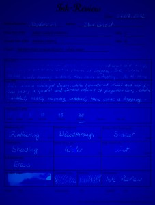 Noodler's Ink Blue Ghost Betrachtungsformular